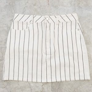 NWT Striped Denim Skirt